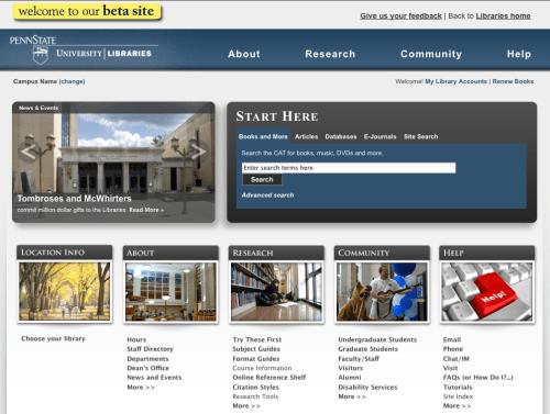 University Libraries Website Redesign
