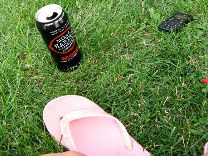 Summer, alcohol, flip flop