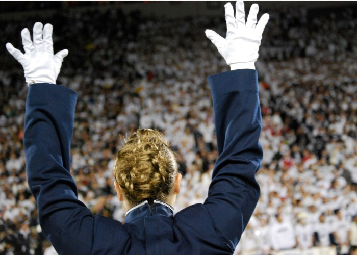 Blue Band Raise Hands