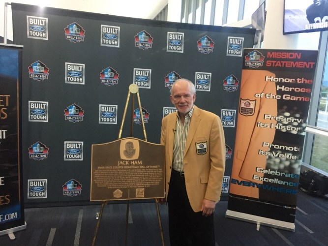 4c6dde050bf Jack Ham Honors Penn State, Making It 'Official School Of The Pro Football  Hall Of Fame'