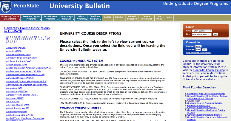 Penn State Rolling Out New Course Bulletin Next Month | Onward State