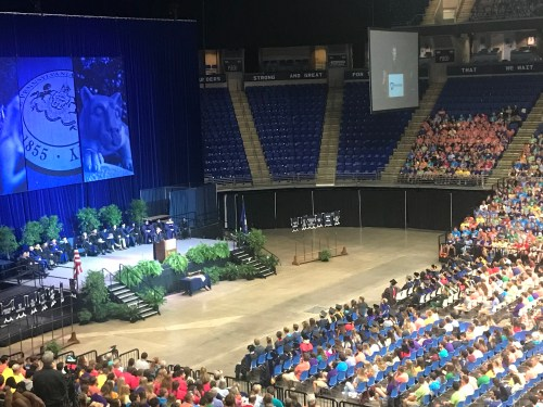 Student Body President Cody Heaton Welcomes Class of 2022 At Convocation