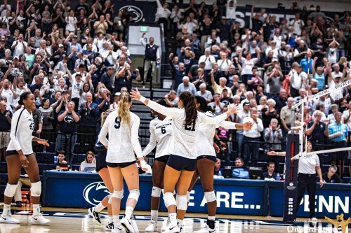 Penn State Women's Volleyball Beats Nebraska 3-2