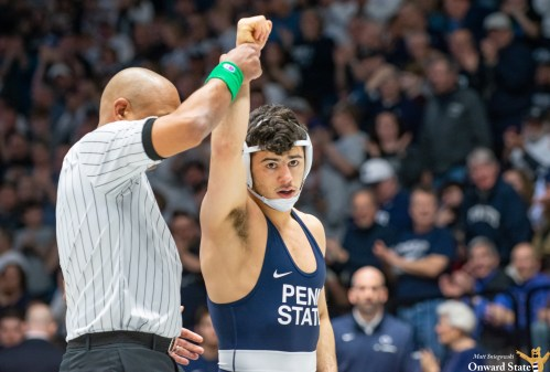 No. 1 Penn State Wrestling Shuts Out Navy In Season Opener