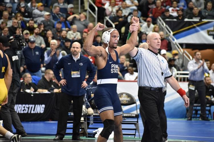 on sale 73fd7 41d1c Penn State Wrestling With Five Finalists At NCAA Championships