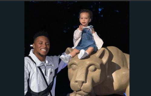 Saquon Barkley And Daughter Redefine Cute Lion Shrine Pics