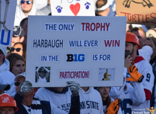 Penn State Fans Roast Jim Harbaugh With College GameDay Signs