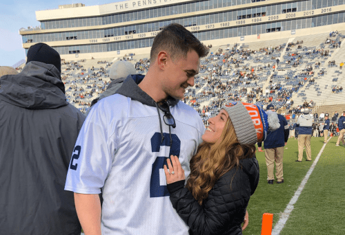 Pat Freiermuth Assists Former Penn State Lacrosse Player With Pregame Proposal