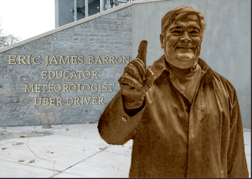 The Eric Barron Statues Penn State Needs