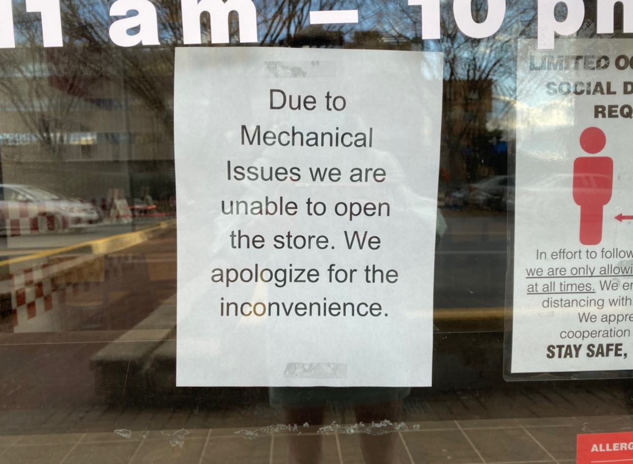 Five Guys Temporarily Closed Due To 'Mechanical Issues'
