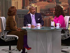 Steve Harvey, Gayle King and Oprah