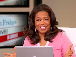 Oprah posts her first tweet on Twitter!