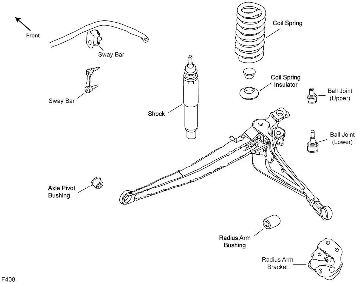 ford f 150 sway bar link diagram