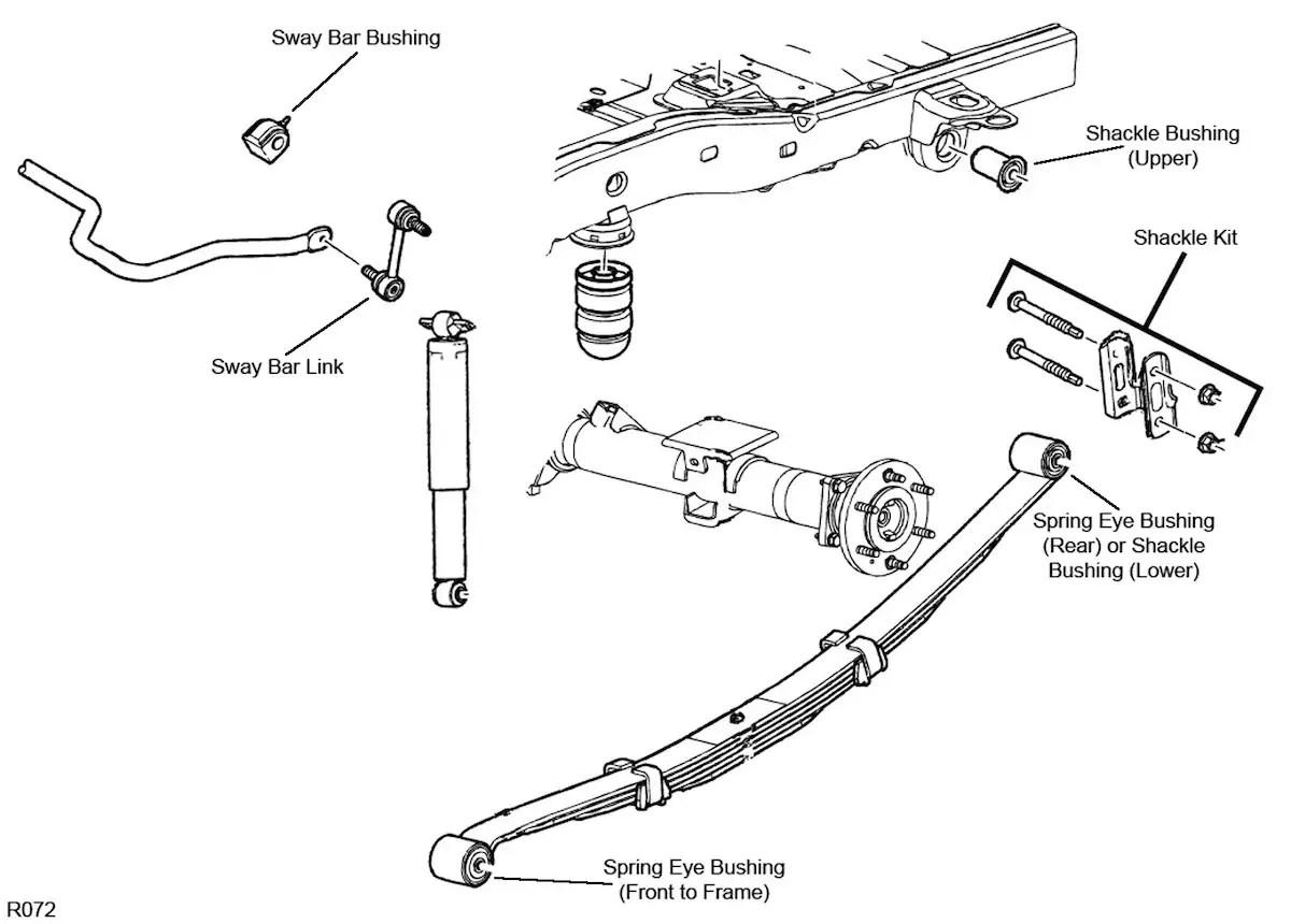 2006 Hummer H3 Front Suspension Diagram