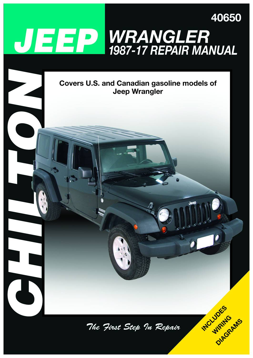 2013 Jeep Wrangler Owners Manual : wrangler, owners, manual, Chilton, 87-17, Wrangler, Technical, Specification, 40650
