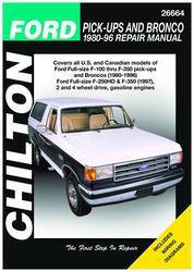 1989 Ford F150 Parts : parts, Repair, Manual, F-150, O'Reilly, Parts
