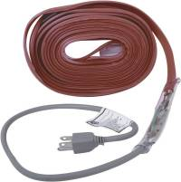 MD 64444 Pipe Heating Cable With Thermostat, 30 ft, -50 deg F