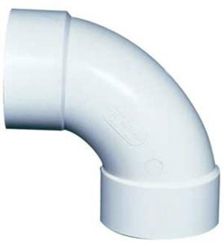 Ipex 040255 Long Turn Sewer and Drain Pipe Elbow, 90 deg