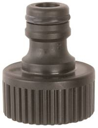 Gilmour 39QM Quick Faucet Hose Connector, Male, Polymer, Black