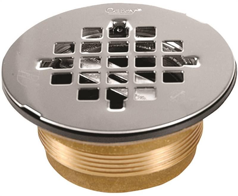 Oatey 140 Shower Stall Drain, 2 in, Brass