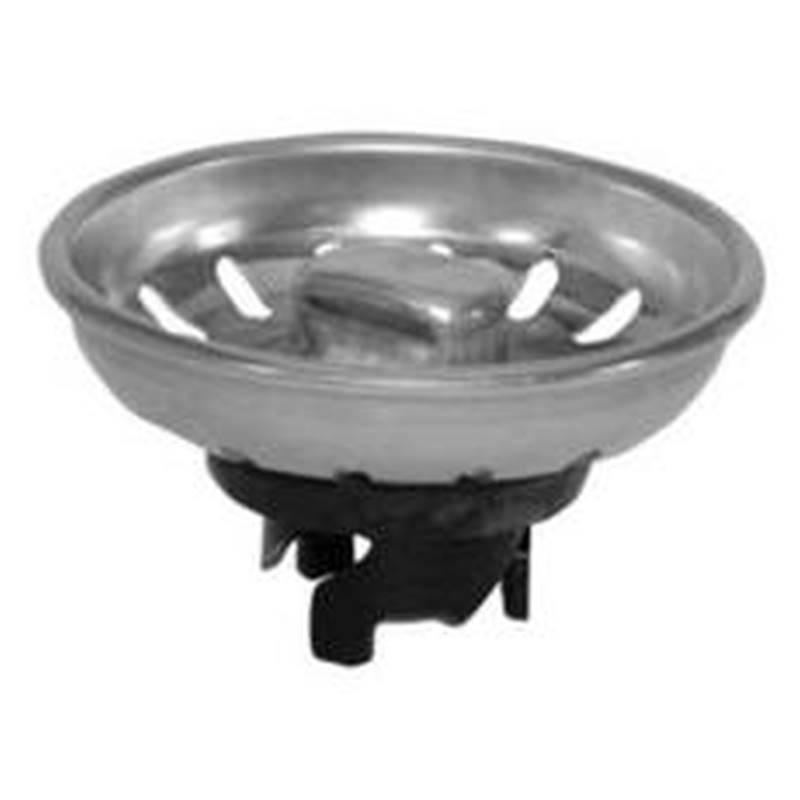 moen m2225 universal style kitchen basket strainer with claw foot lock heavy gauge stainless steel