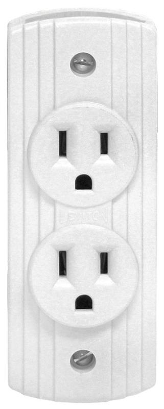 Leviton 05238-741 Duplex Receptacle, 15 A, 2 or 3 Wire, White