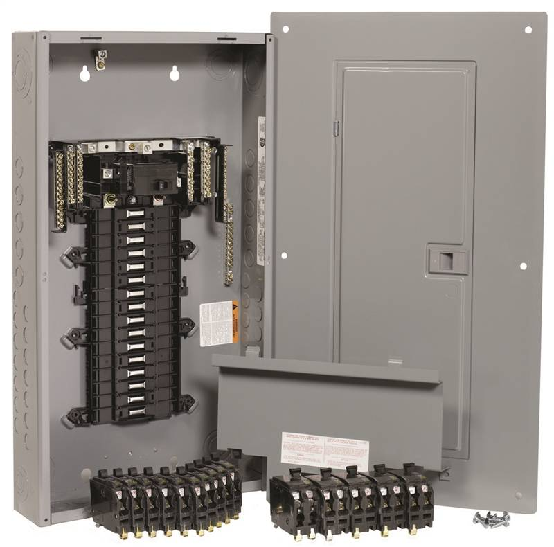 Upgrade 100 Amp Fuse Box To Circuit Breakers Square D Qwikpak Qp32100 Panelboard 120 240 Vac 100 A