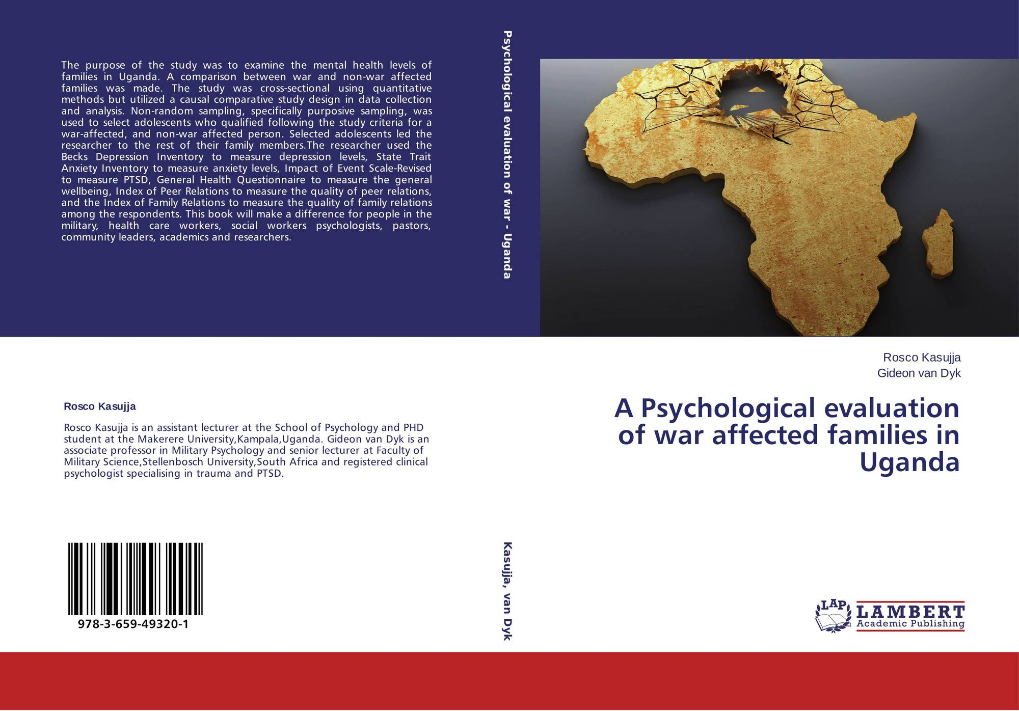 Bookcover Of A Psychological Evaluation Of War Affected Families In Uganda