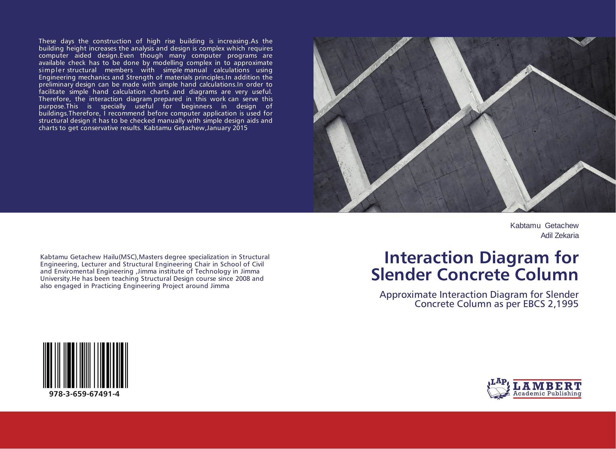hight resolution of bookcover of interaction diagram for slender concrete column 9783659674914