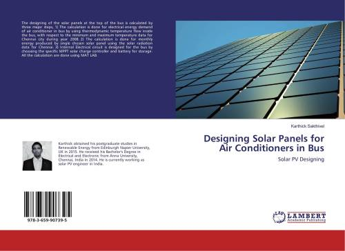 small resolution of bookcover of designing solar panels for air conditioners in bus 9783659907395