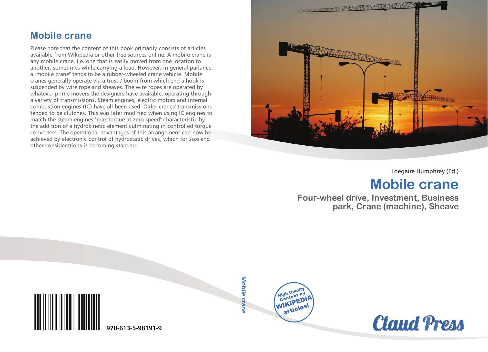 hight resolution of bookcover of mobile crane 9786135981919