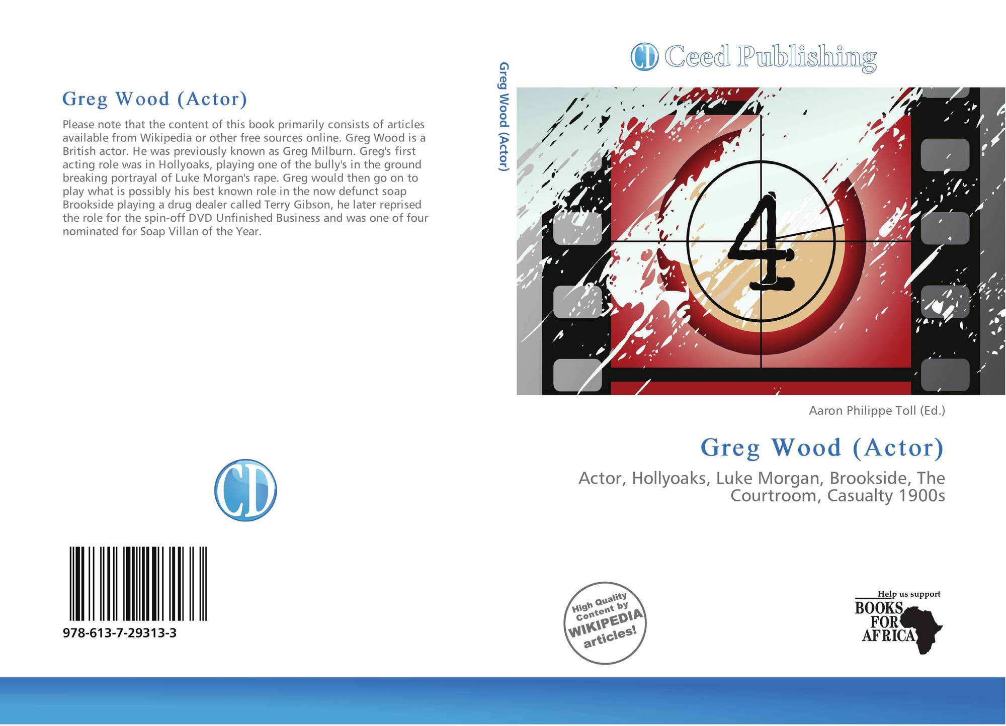 hight resolution of bookcover of greg wood actor