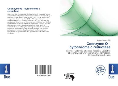 small resolution of bookcover of coenzyme q cytochrome c reductase