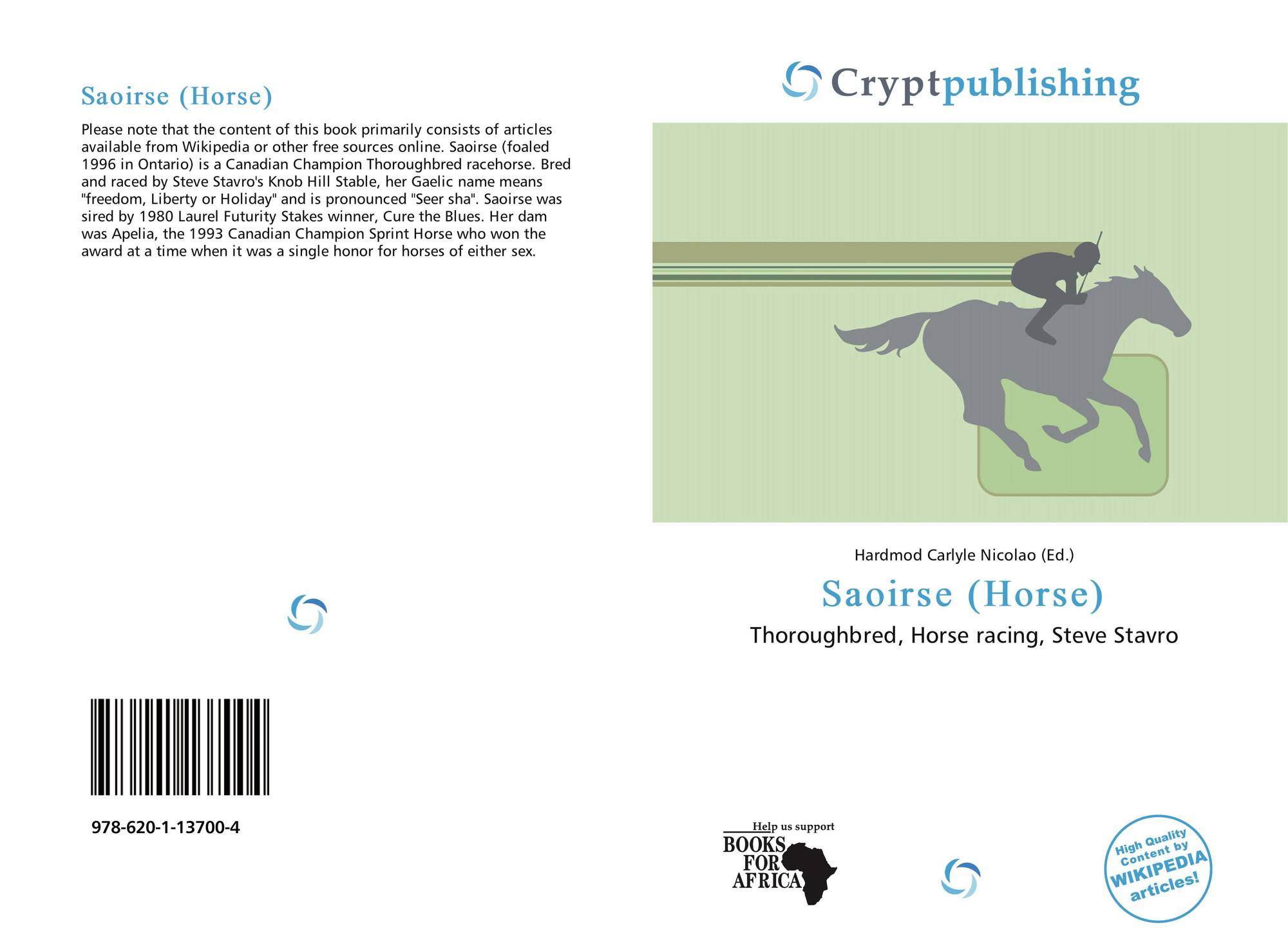 hight resolution of bookcover of saoirse horse