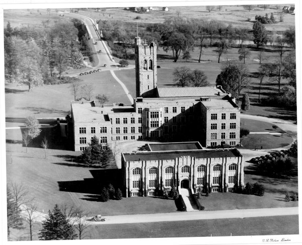 Aerial View Of Lawson Memorial Library And University