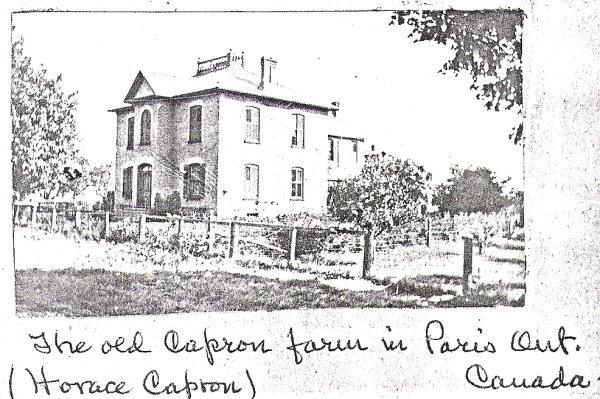 Horace Capron's Farm House, Paris, Ontario: County of