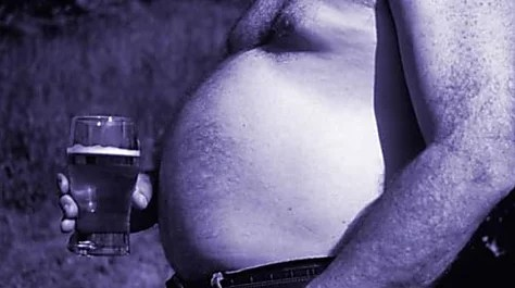What causes a beer belly?