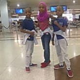 Actor Femi Adebayo Vacations With His Children In Dubai – Photos