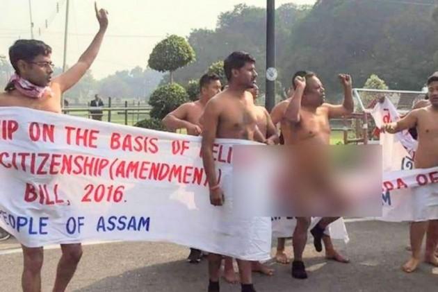Nude Protest On Guwahati Streets Ahead Of PM Modi's Rally