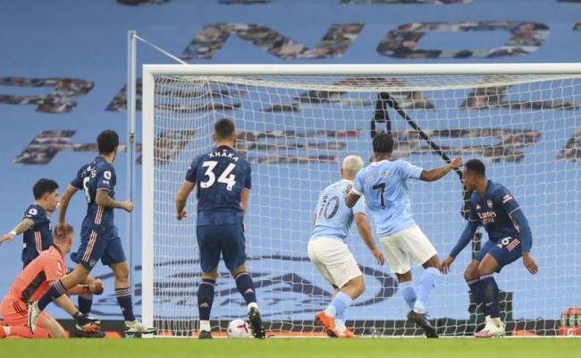 Manchester City 1 0 Arsenal Raheem Sterling Lifts Citizens From Slump
