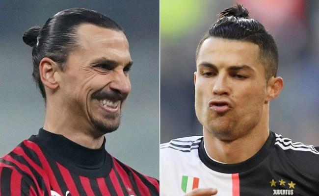 Ac Milan Vs Juventus Zlatan Ibrahimovic And Cristiano