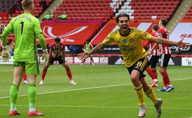Sheffield United 1 2 Arsenal Ceballos Strikes Late To