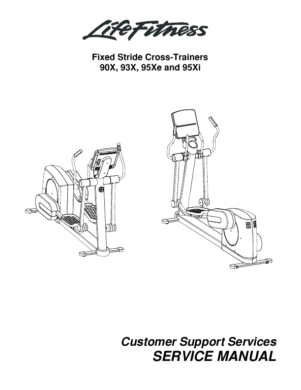 Life Fitness Fixed Stride Cross-Trainers Service Manual