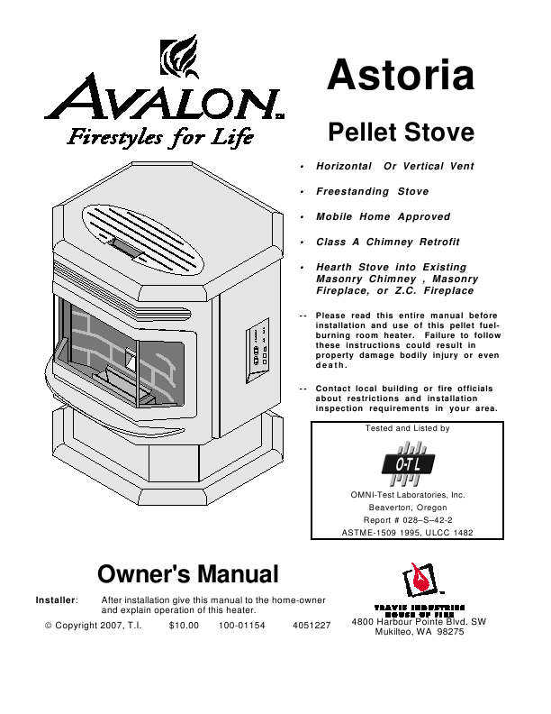 Search avalon stoves avalon stoves pellet stove User