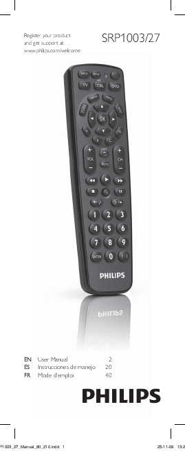 Philips Universal Remote Control User Manual