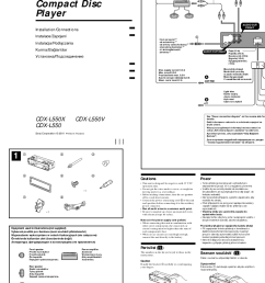 sony car stereo wiring diagram sony cd player user manual [ 842 x 1191 Pixel ]