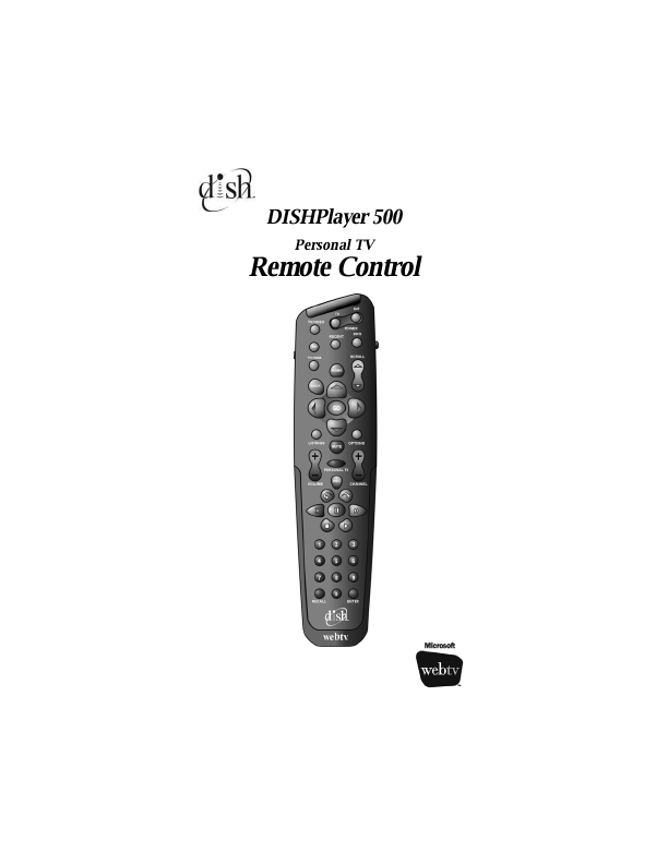 DISHPlayer 500 Personal TV Remote Control User Manual