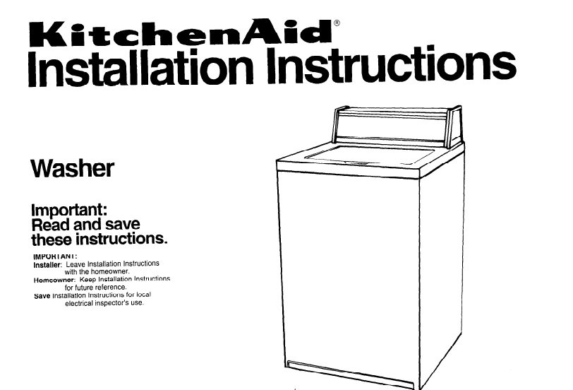 Kitchenaid: Owners Manual For Kitchenaid Dishwasher