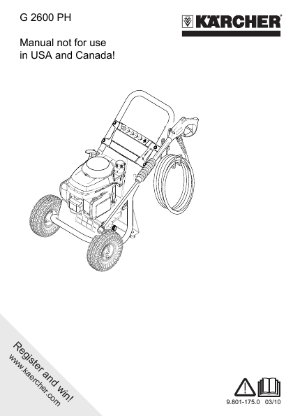 Karcher High Pressure Washer Operator Manual