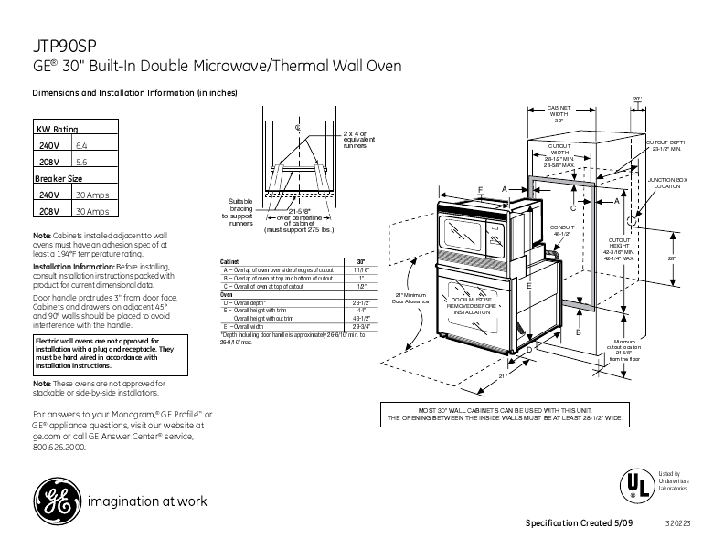 Ge Oven: Ge Built In Oven Manual